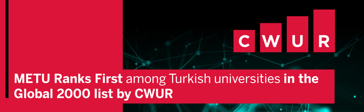 """""""METU RANKS FIRST AMONG TURKISH UNIVERSITIES IN THE GLOBAL 2000 LIST BY CWUR"""""""