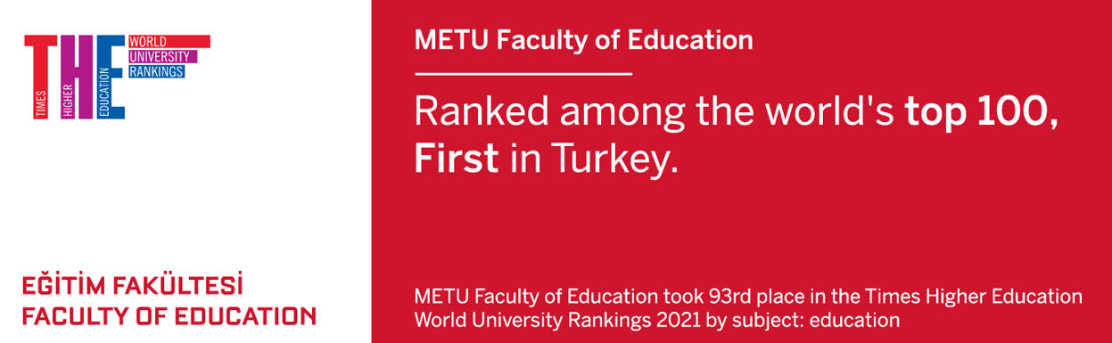METU FACULTY OF EDUCATION RANKS<br> AMONG THE WORLD'S TOP 100