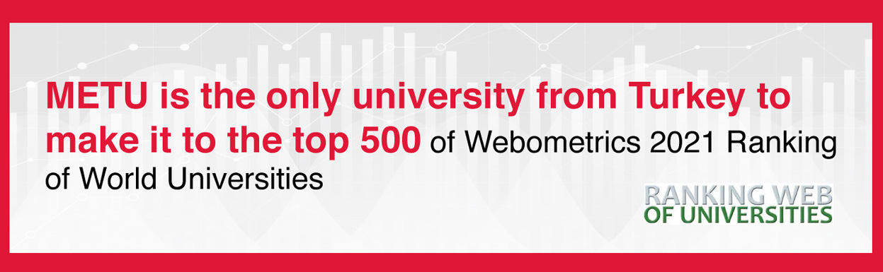 THE ONLY TURKISH UNIVERSITY iN THE TOP 500: METU